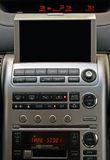 GPS vehicle navigation system. A close-up view of a GPS vehicle navigation system inside a car. Screen is blank so you can add your own royalty free stock photos