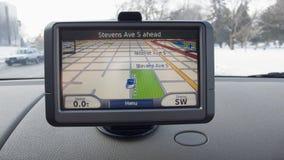 GPS Vertoning Royalty-vrije Stock Afbeeldingen