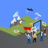 GPS w telefonie komórkowym pokazuje trasy mapę Zdjęcia Stock