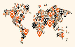 Gps world map background Stock Photo