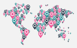 GPS world map concept Royalty Free Stock Photos