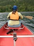 GPS y batimiento de la canoa fotografía de archivo libre de regalías
