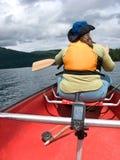 GPS y el canoeing fotografía de archivo