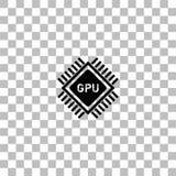 Gpu icon flat vector illustration