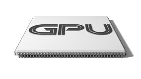 Gpu. 3d GPU illustration. solated on white Royalty Free Stock Image