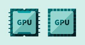 GPU microchip Stock Image