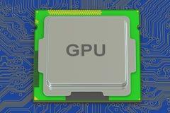 GPU, representación 3D Fotos de archivo libres de regalías