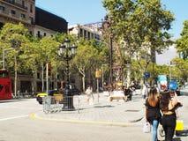 Grácia avenue Barcelona Catalunya royalty free stock image