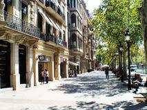Grácia avenue Barcelona Catalunya stock image