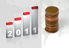 Gráfico 2011 Imágenes de archivo libres de regalías