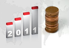 Gráfico 2011 Imagens de Stock Royalty Free