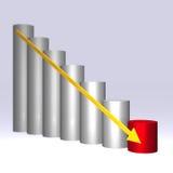 gráfico 3D Imagem de Stock