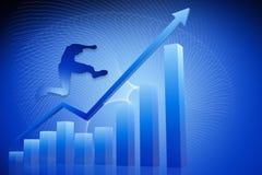 Gráfico 3d azul Imagem de Stock