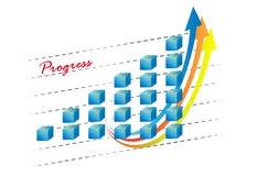 gráfico 3d con las flechas Imagen de archivo libre de regalías