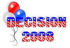 Gráfico 3D del día de elección 2008 Fotos de archivo libres de regalías
