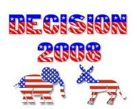 Gráfico 3D del día de elección 2008 Fotografía de archivo libre de regalías