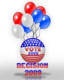 Gráfico 3D del día de elección 2008 Fotos de archivo