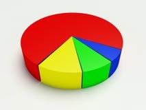 gráfico 3d en diversos colores en un fondo blanco Foto de archivo libre de regalías