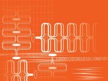 Gráfico abstracto anaranjado libre illustration