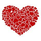 Gráfico abstracto de corazones Foto de archivo libre de regalías
