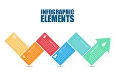 Gráfico abstracto de la información de la flecha del negocio Foto de archivo