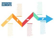 Gráfico abstracto de la información de la flecha del negocio Imagenes de archivo