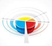 Gráfico abstracto del gráfico de sectores Foto de archivo