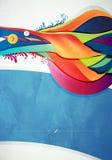 Gráfico abstracto, fondo en la pintada 3d Foto de archivo libre de regalías