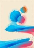 Gráfico abstracto, fondo en la pintada 3d Fotos de archivo libres de regalías