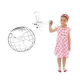 Gráfico adorable de la muchacha Foto de archivo libre de regalías