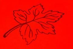 Gráfico anaranjado de la hoja Fotos de archivo libres de regalías