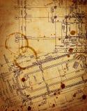 Dibujo arquitectónico del vintage ilustración del vector