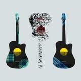 Gráfico art4 de la guitarra Foto de archivo libre de regalías
