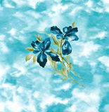 Gráfico azul de la flor del iris foto de archivo