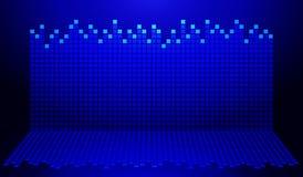 Gráfico azul y negro stock de ilustración