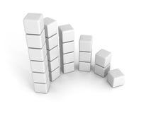 Gráfico bem sucedido branco da carta de barra que cresce acima Fotografia de Stock Royalty Free
