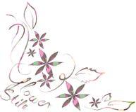 Gráfico colorido de la flor Foto de archivo libre de regalías