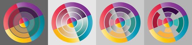 Gráfico colorido de la información del círculo de la blanco Fotografía de archivo