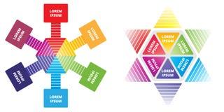 Gráfico colorido de la información del concepto del negocio Fotos de archivo