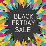 Gráfico colorido de la venta de Black Friday Imágenes de archivo libres de regalías