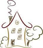 Gráfico colorido de una casa Foto de archivo
