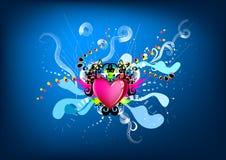 Gráfico colorido del corazón del rey Fotografía de archivo