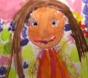 Gráfico colorido del niño foto de archivo