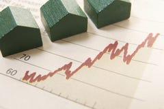 Gráfico com casas Imagens de Stock