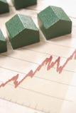 Gráfico com casas Imagem de Stock Royalty Free