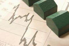 Gráfico com casas Fotografia de Stock Royalty Free