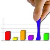 Gráfico com mão Fotografia de Stock