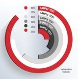 Gráfico concéntrico stock de ilustración