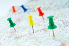 Gráfico-contactos que marcan la ruta imagenes de archivo