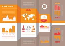 Gráfico corporativo de la información del negocio del detalle libre illustration